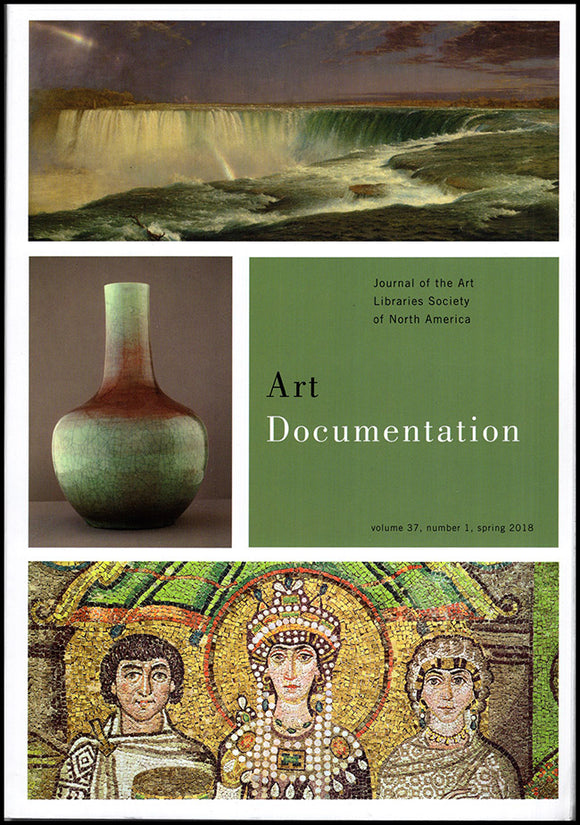 Art Documentation (Vol 37, No 1, Spring 2018), book cover