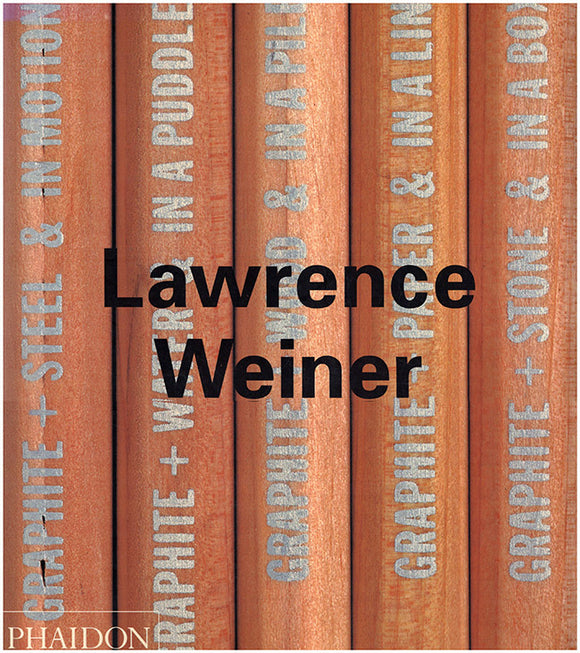 Lawrence Weiner (Phaidon Contemporary Artists), Book Cover