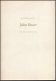 Julius Bissier 1893-1965 A Retrospective Exhibition, book cover.