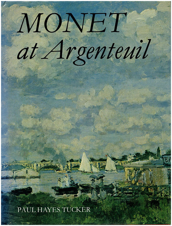 Monet at Argenteuil. Book Cover.