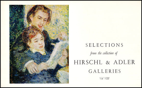 Book Cover. Selections from the Collection of Hirschl and Adler Galleries Vol. VIII. .