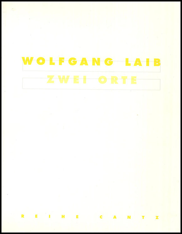 Book Cover. Wolfgang Laib: Two Locations.