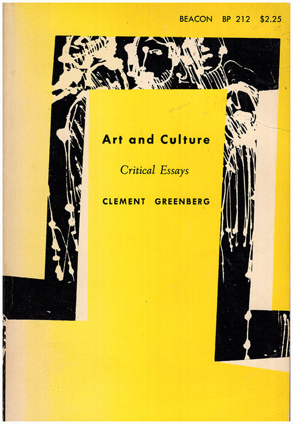 Book Cover. Art and Culture: Critical Essays