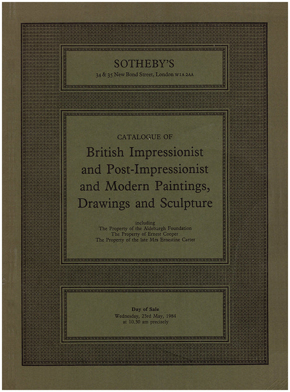 Book cover. British Impressionist and Post-Impressionist and Modern Paintings, Drawings and Sculpture (ASPHODEL)