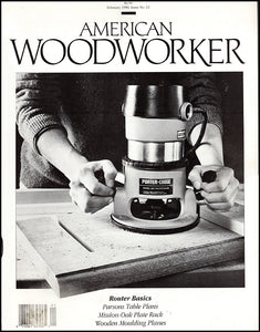 Cover. American Woodworker (February 1990, Issue No. 12).