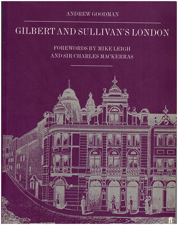 Book Cover. Gilbert and Sullivan's London.