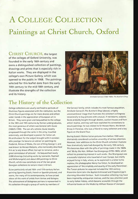 Paintings at Christ Church, Oxford: A College Collection