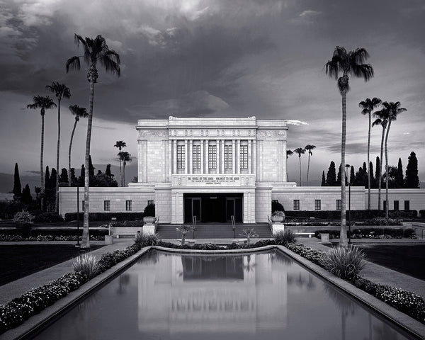 Mesa Temple - Front Black and White