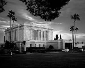 Mesa Temple - Side Black and White