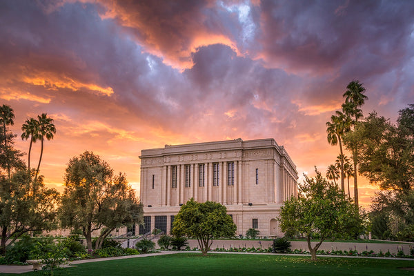 Mesa Temple - Stormy Sunset