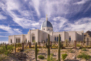 Tucson Temple - Wispy Clouds