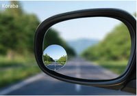 Car Rear View WIDE Mirror (rotatable) (Comes with 2)