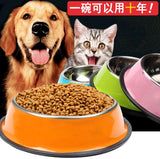 Colored Stainless Steel Dog Bowl