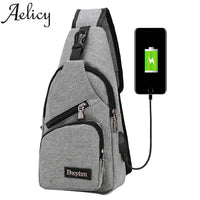 Small Anti theft Shoulder Bag Backpack Unisex + USB Charge