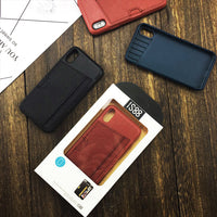 Leather Pocket Case For iPhone X