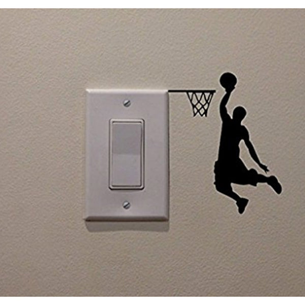 Basketball Vinyl Switch Sticker