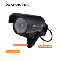 Fake Dummy Camera Waterproof Home Security Surveillance Camera with LED Flash light
