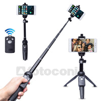 Tripod + Selfie Stick with Bluetooth Remote Shutter for iPhone/Samsung/Gopro