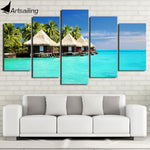HD Maldives Canvas Art