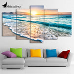 HD Beach Shore Canvas Art
