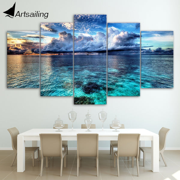 HD Shallow Water Canvas Art