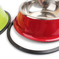 Awesome Colorful Dog Bowl - Stainless Steel