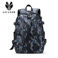Leather Waterproof Anti Theft Backpack