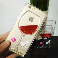Red Wine Clear iPhone Case