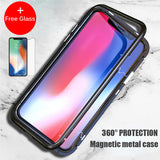Magnet Absorption Aluminum Metal Frame iPhone Case