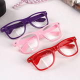 Fashion Clear Clear Lens Glasses Plain (16 Colors)