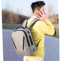 Anti Theft Backpack: Password Locked + USB Charge + Headphone Plug