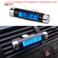Clip-On Digital LCD Temperature & Thermometer & Clock