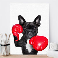 Custom Dog Canvas Art Painting