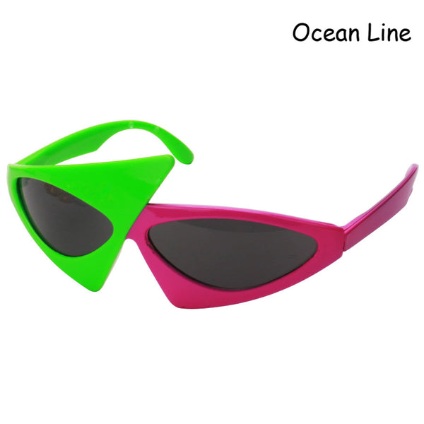 80s Asymmetric Triangular Sunglasses