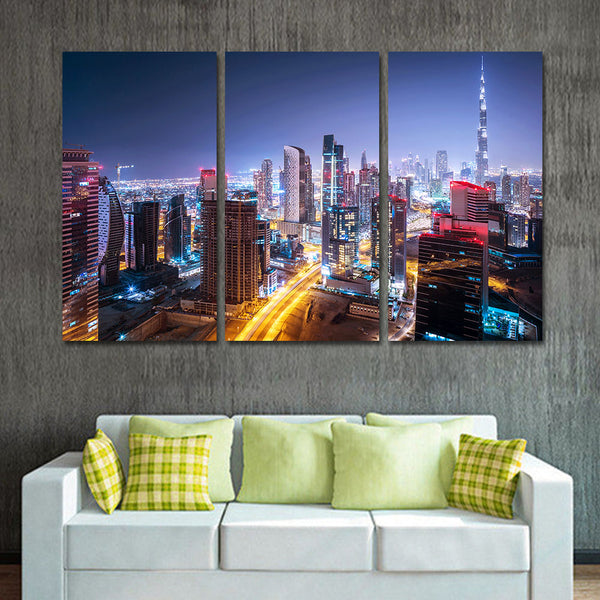 Oil Painting Canvas Art 3 Pieces Unframed