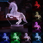 3D  Unicorn LED Night Light (7 Color Changeable!)