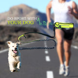 Hands-free Dog Running Leash with Waist Bag