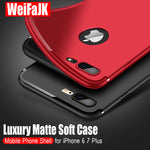 Luxury Matte Back Silicone Case For All iPhone