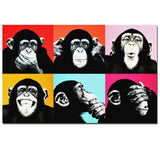 HD Awesome Monkey Wall Art Canvas