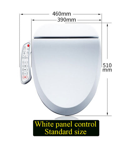 Smart Electric Toilet Seat with Sprayer, Led Light, Heating