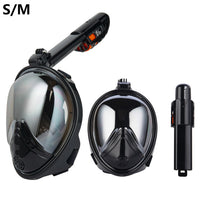 Anti Fog Swimming Breathable Mask + GoPro Mount (Men and Women)