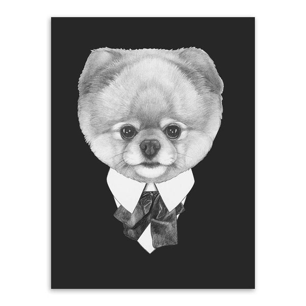 Fashion Dogs Wall Art Canvas Paintings