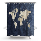 Awesome World Map Shower Curtains (Many types)