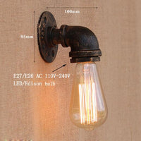 Vintage Industrial Steam Water Pipe Wall Lights