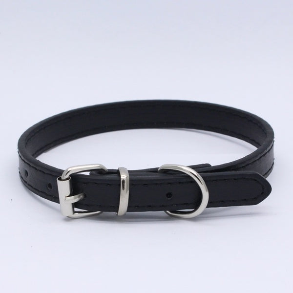 Standard Adjustable PU Leather Dog Collar (8 colors)