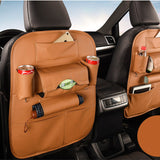 Leather Car Seat Back Storage Organizer