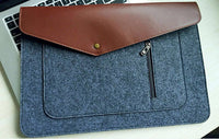 Pro Felt & Leather Laptop Case For Macbooks and Laptops