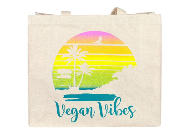 Vegan Vibes Sunset Tote