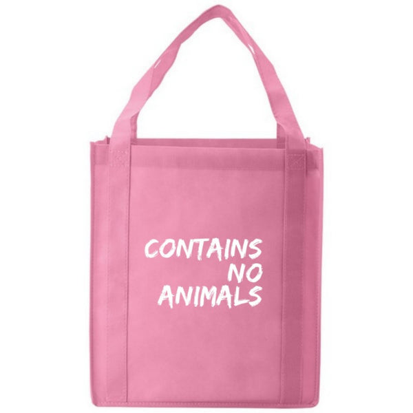 Contains No Animals Pink Jumbo Grocery Tote