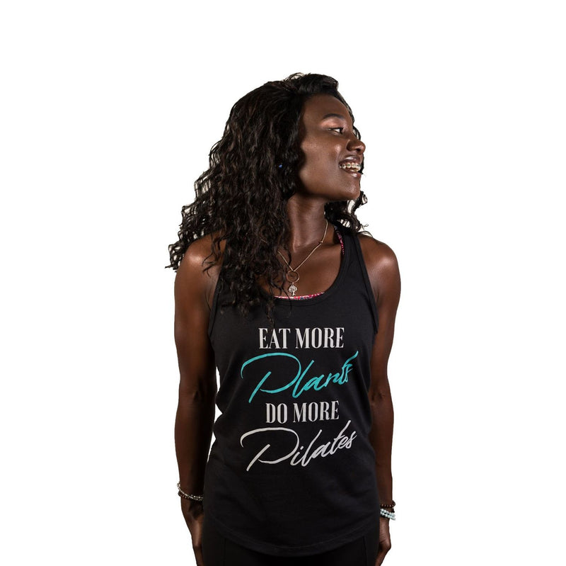 Eat More Plants, Do More Pilates Racerback Tank